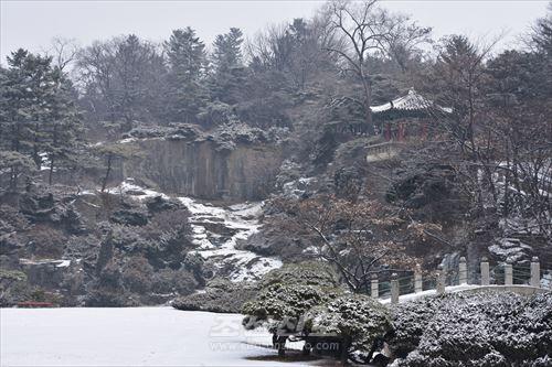 모란봉의 겨울풍경